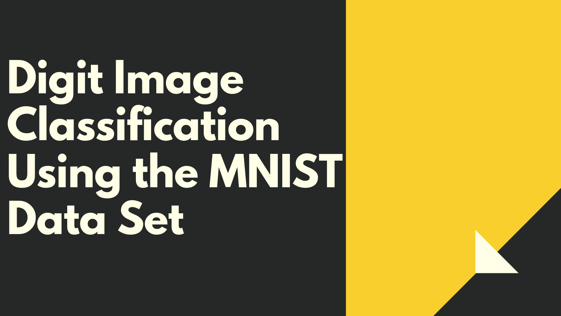 Image Classification with MNIST Dataset - A site aimed at